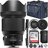 Sigma 85mm f/1.4 DG HSM Art Lens for Canon EF Cameras + Sigma USB Dock with Altura...