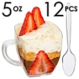 Mini Dessert Cups, Appetizer Bowls with Spoons & Recipe e-Book [Clear ...
