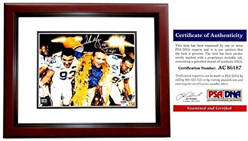 Urban Meyer Autographed Florida Gators UF 8x10 Photo - 3x National Champion Coach - Mahogany Custom Frame - PSA/DNA - Coach Frames Online