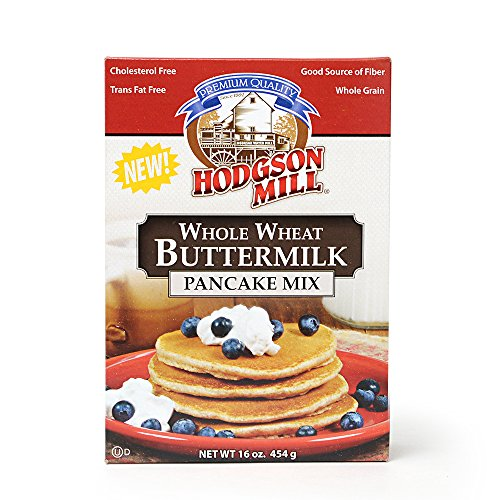 Hodgson Mill Whole Wheat Buttermilk Pancake Mix, 16 Ounce (Pack of 6) Wholesome Whole Grain Baking and Cooking Ingredients for Home Cooks -