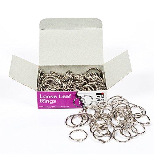 Charles Leonard CHLR19BN 0.75 in. Rings Loose Leaf - Pack of 3 ()
