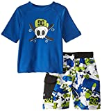 DC Shoes Co Little Boys' Printed Hooded Top with Shorts Set, Blue, 4T