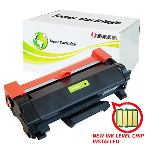 INK4WORK (with CHIP) Compatible Toner Cartridge Replacement for Brother TN-760 TN730 TN760 HL-L2395DW HL-L2350dw HL-L2370dw MFC-L2710dw DCP-L2550dw MFC-L2750dw HL2390DW Printers