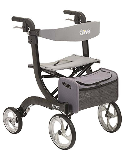 Drive Medical Nitro Euro Style Black Rollator Walker  Black