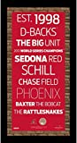 Arizona Diamondbacks Subway Sign Wall Art 9.5x19 Frame w/Authentic Dirt from Chase Field.