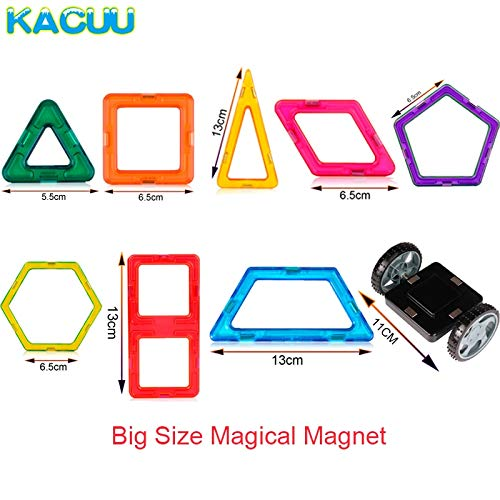 JohnCalbe A&T Big Size Magnetic Designer Construction Set Model & Building Toy Magnets Magnetic Blocks Educational Toys for Children by JohnCalbe (Image #5)