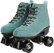 XUDREZ Cowhide Roller Skates for Women and Men High-Top Shoes Double-Row Design,Adjustable Classic Premium Rol