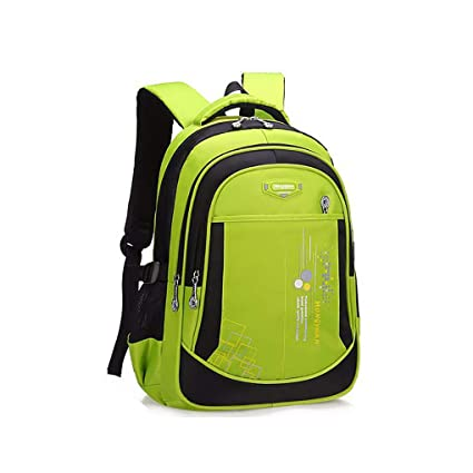 JQXB Mochilas Escuela, Bolsas Escolares Infantiles Primaria Niños y Niñas Ergonómico Schoolbag Impermeable Ligera Casual