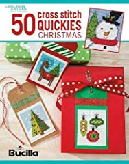 6883 50 Cross Stitch Quickies-Christmas Celebrate the holidays with miniature stitchery designs that are quick to make for decorations and gifts. The fun collection in 50 Cross Stitch Quickies for Christmas from Leisure Arts presents a big va...