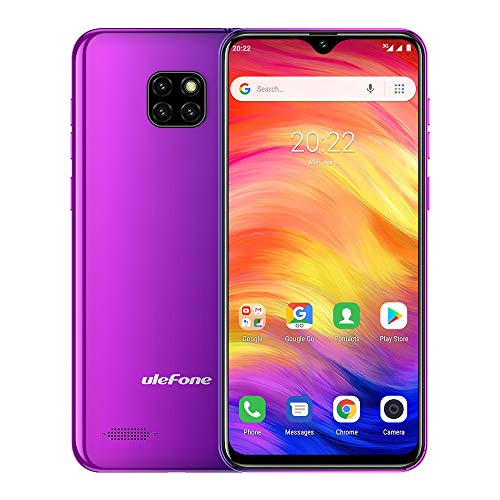 Ulefone Note 7 (2020) Unlocked 3G Cell Phones, Android 9.0 GSM Unlocked Phones,Triple Card Slots, Face Unlock 6.1'' 1GB+16GB 8MP Three Camera, 3500Mah Unlocked Smartphone GPS WiFi,No 4G, No Verizon