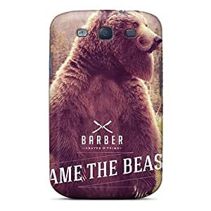 Forever Collectibles Bear With Beard And Moustache Iphone Wallpaper Hard Snap-on Galaxy S3 Case