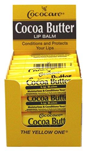 Cococare Cocoa Butter Lip Balm 0.15oz 24 Pieces