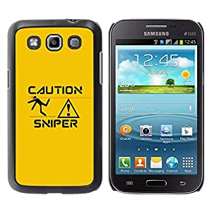 Stuss Case / Funda Carcasa protectora - Sniper Caution - Samsung Galaxy Win I8550