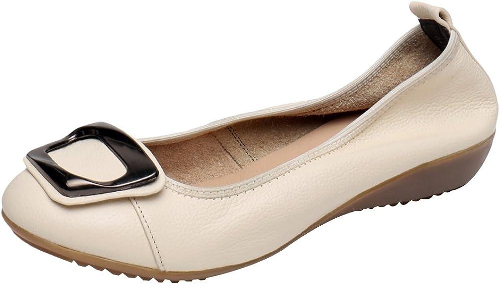 Jamron Femmes Cuir Véritable Chaussures de Confort Semelle