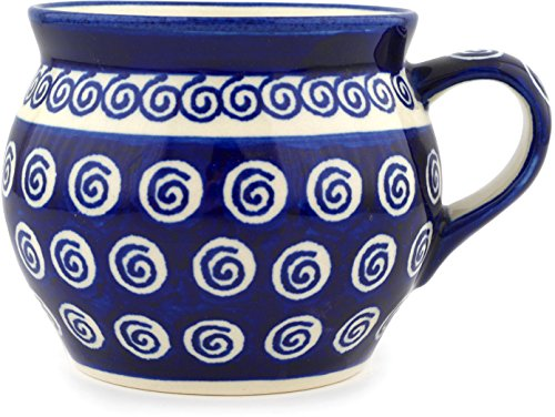 (Polish Pottery Bubble Mug 16 oz Cobalt)