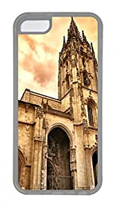 iPhone 5c case, Cute Oviedo Cathedral iPhone 5c Cover, iPhone 5c Cases, Soft Clear iPhone 5c Covers
