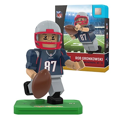 NFL New England Patriots Gen4 Limited Edition Rob Gronkowski Mini Figure, Small, White by OYO