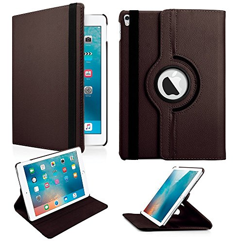 KolorFish 2017 iPad Pro 10.5 Inch Case   360 Degree Rotating Stand Case with Smart Cover Auto Sleep/Wake Feature for Apple iPad Pro 10.5 Inch 2017  Br