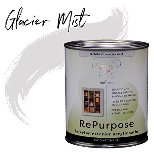 Exterior Vinyl Paint - Majic Paints 8-9404-2 Diamond Hard Repurpose Enamel Paint for Interior Or Exterior, 1-Quart, Glacier Mist