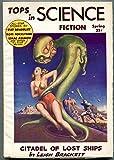 Tops In Science Fiction Pulp #1 Spring 1953- Bradbury- Asimov- great cover