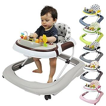 Monsieur Bébé ® Trotteur bébé évolutif musical, pliable et réglable en hauteur - 6 coloris - Norme NF EN 1273 EGK