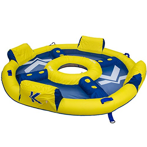 Chair Water Blue & Yellow Floating Island Relaxation Station Lounger Inflatable Lake Large Floating Lounge Raft Comfortable Rafting Party Summer Fun Durable 4 Person Raft With Coolers - Skroutz ()