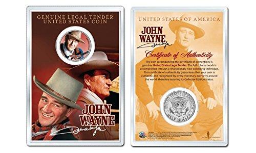JOHN WAYNE - Rio Bravo OFFICIAL JFK Half Dollar U.S. Coin in PREMIUM HOLDER