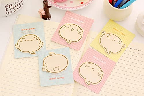Gifts UK/® mignon emoji Sticky Notes fantaisie Sticky Note Pad Signet Memo Index Tab page marqueurs A Set of 4 Designs UK Stock