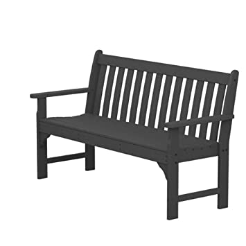 Surprising Vineyard Plastic Garden Bench Size 60 Finish Slate Grey Ibusinesslaw Wood Chair Design Ideas Ibusinesslaworg