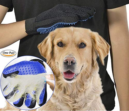 ArdaVan [New Version 259 Tips Five Finger Pet Grooming Gloves Silicone Massage Hair Remover Dog Cat Cleaning Brush Magic…