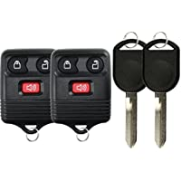 KeylessOption Keyless Entry Remote Control Fob Uncut Blank Car Ignition Key For GQ43VT11T, CWTWB1U345, H92 (Pack of 2)