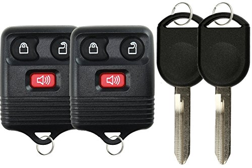 KeylessOption Keyless Entry Remote Control Fob Uncut Blank Car Ignition Key For GQ43VT11T, CWTWB1U345 (Pack of 2)