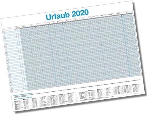 XXL Urlaubsplaner 2020 / Personalplaner - bis zu 45 Mitarbeiter I 13 Monate + Gratis Wandkalender 2020 (86 x 59 cm)