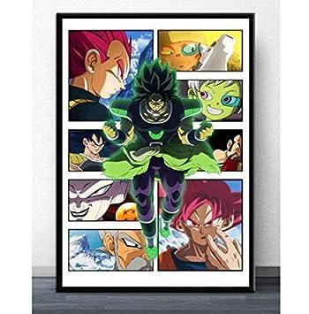 Anime Dragon Ball Super Broly Silk Poster 24 X 14 inch