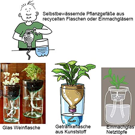 Stoppino autoirrigante per piante fai da te e vacanze sistema di irrigazione automatica per interni in vaso corda African Violet trattamento a goccia