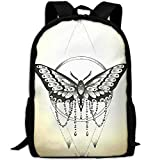 PengLi Butterfly Wind Chime Jewelry Adult Outdoor Leisure Sports Backpack and School Backpack