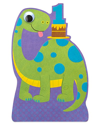 American Greetings Dinosaur 1st Birthday Card for Boy (Happy Birthday Messages For 1 Year Old)