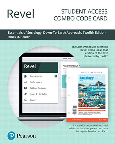 Revel for Essentials of Sociology: A Down-To-Earth Approach -- Combo Access Card (12th Edition)