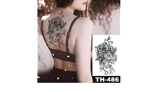 5Pc-Linea Minimalista Adesivi Per Tatuaggi Impermeabili Rosa Body ...