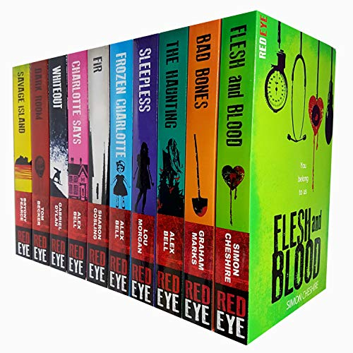 Red Eye Series Collection 10 Books Set (Flesh and Blood , Bad Bones, The Haunting , Sleepless, Frozen Charlotte, Fir , Charlotte Says ,Whiteout, Dark Room ,Savage Island)