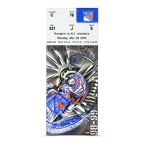 Wayne Gretzky Inscribed GOAL 894 894 Goal Game Canvas Mega Ticket - Ltd /99