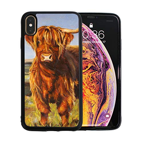 (iPhone Xs Max Case,Animal Yak Oil Paintings TPU Anti Scratch Protective Cover,Compatible Cell Phone Cases,Printed Shockproof Protector)