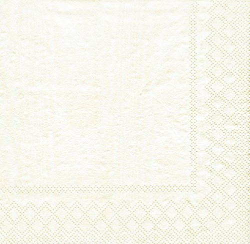 Entertaining with Caspari Moire Luncheon Napkins (20 Pack), Ivory - Moire Luncheon Napkin