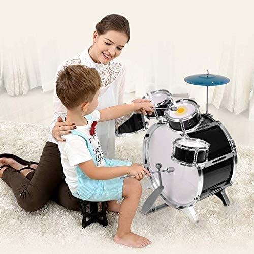 感情を育てる 子供のおもちゃは、36歳の男の子と女の子のドラムドラムドラムビート初心者ドラム楽器ドラムバスドラム(色:黒) wcaz (Color : Black)