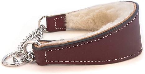 Auburn Leathercrafters' Sheepskin Lined Martingale Collar