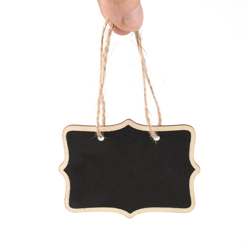 Amazon.com: Austor 14 Mini Chalkboards Signs Hanging BlackBoard Rectangle  Message Board Double Sided for Weddings, Kids Crafts, Garden: Home & Kitchen