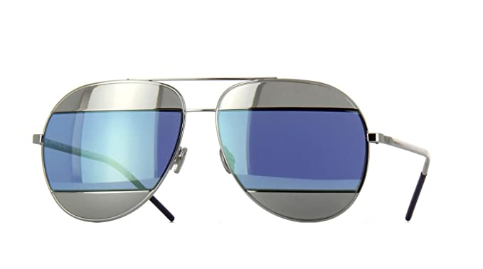 00eb3219660f Image Unavailable. Image not available for. Color  New Christian Dior SPLIT  1 010 3J Palladium Blue Silver Tone Sunglasses