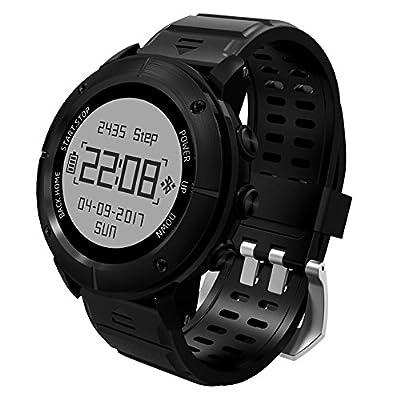 Adventurer GPS Hiking Smart Watch,UWear 100% Waterproof Sports Watch gps for Men,Over 10 Sports Modes,Hiking Triathlon Running Swimming with Heart Rate Monitor / SOS / Compass / Barometer Altimeter