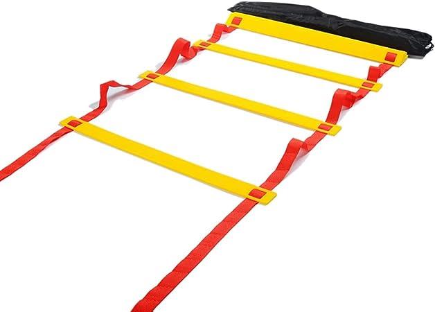 ABCCS Escalera Deportiva de la escalerade Entrenamiento Escalera de Agilidad Escalera de Velocidad Escala de energía fútbol Escalera de cuadrícula de Salto de Cuerda Blanda Escalera de Entrenamiento: Amazon.es: Hogar