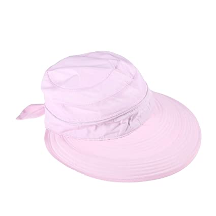 e4079e64d3a7b VORCOOL Foldable Sun Hat Visor Cap 2-Style Wide Brim UV Protection Sun  Visor Hat (Pink)  Amazon.in  Home   Kitchen
